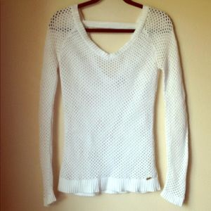 Guess V-neck crochet sweater